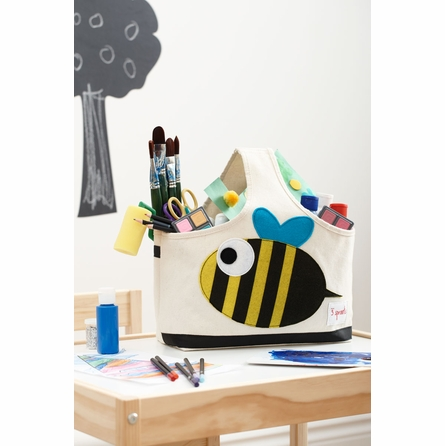 Bee Canvas Storage Caddy