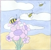 Bee with Gingham I Canvas Reproduction