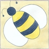 Bee with Gingham II Canvas Reproduction