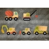 Beep Beep Construction Trucks Canvas Wall Art