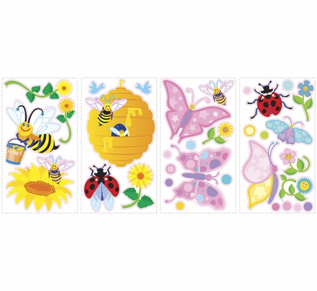 Bees and Butterflies Wall Decals
