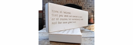 Begin Doing Love Letter Engraved Sign