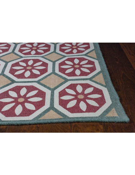 Beige and Red Tertulia Reversible Rug