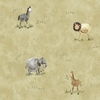 Beige Jungle Animals Wallpaper