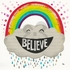 Believe Rainbow Canvas Wall Art