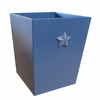 Bella Blue Star Wastebasket