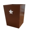 Bella Brown Star Wastebasket