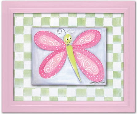 Bella Butterfly Personalized Framed Canvas Reproduction