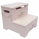 Bella Floral Storage Step Stool