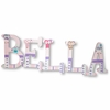 Bella Pink Owls Hand Painted Wall Letters
