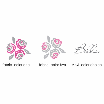 Bella Rose Fabric Wall Decal