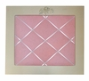Bella Rose Memo Board in Pink Linen
