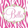 Bella Rose Personalized Canvas Wall Art