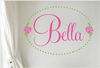 Bella Rose Personalized Wall Decal