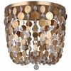 Bella Three Light Antique Gold Flush Mount I