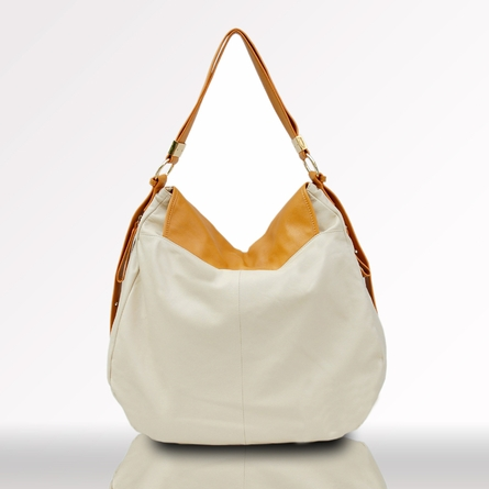 Belle Leather Hobo Diaper Bag