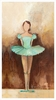 Belle of the Ballet in Green Canvas Wall Art