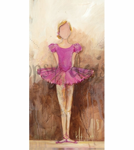 Belle of the Ballet in Pink Canvas Wall Art