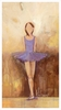 Belle of the Ballet in Purple Canvas Wall Art