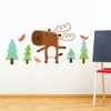 Benjamin the Moose Wall Decal