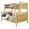 Bennington Twin/Full Bunk Bed in Natural