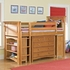 Bennington Twin Loft with Storage Options in Honey