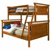 Bennington Twin over Full Bunk Bed in Honey