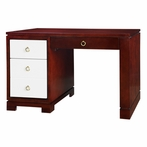 Berkeley Desk - Mahogany and White