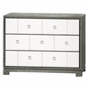 Berkeley Medium 3-Drawer Brickfront Dresser - Gray and White