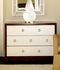 Berkeley Medium 3-Drawer Brickfront Dresser - Mahogany and White