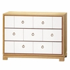 Berkeley Medium 3-Drawer Brickfront Dresser - Oak and White
