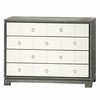 Berkeley Medium 4-Drawer Brickfront Dresser - Gray and White