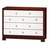 Berkeley Medium 4-Drawer Brickfront Dresser - Mahogany and White