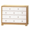 Berkeley Medium 4-Drawer Brickfront Dresser - Oak and White