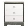 Berkeley Small Side Table - Gray and White