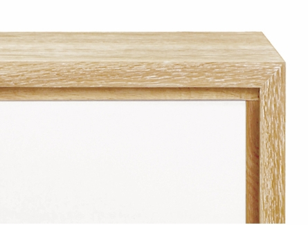 Berkeley Small Side Table - Oak and White