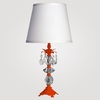 Berlin Small Neon Orange Clear Crystal Table Lamp
