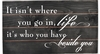 Beside You Quote Vintage Slat Wall Sign