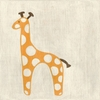 Best Friends Giraffe Canvas Reproduction