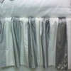 Beverly Hills Pewter and White Silk Crib Skirt