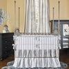 Beverly Hills Pewter Silk 3-Piece Crib Bedding Set