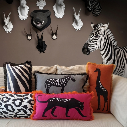 Beyond Africa Leopard Reversible Throw Pillow