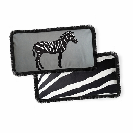 Beyond Africa Zebra Reversible Throw Pillow
