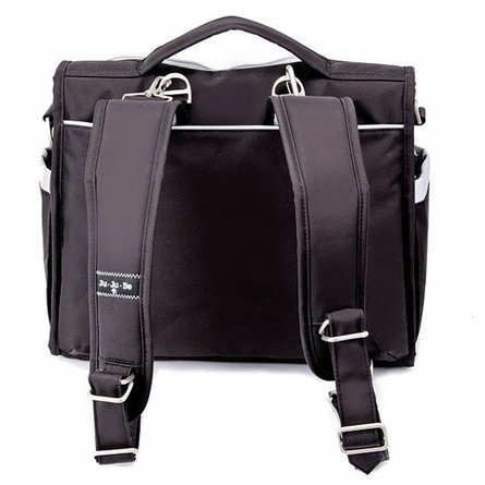 BFF Diaper Bag in Black Silver