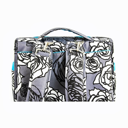 BFF Diaper Bag in Charcoal Roses
