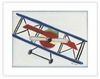 Bi-Plane Framed Canvas Reproduction