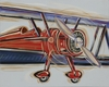 Bi-Plane Hand Painted Canvas