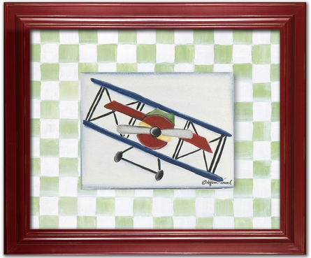 Bi-Plane Personalized Framed Canvas Reproduction