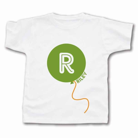 Big Balloon Monogram Personalized T-Shirt