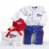 Big Dreamzzz Baby Baseball 3-Piece Layette Set in All-Star Gift Box